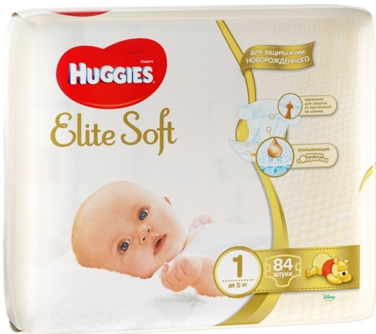 HUGGIES ELITE SOFT1 (до5кг)